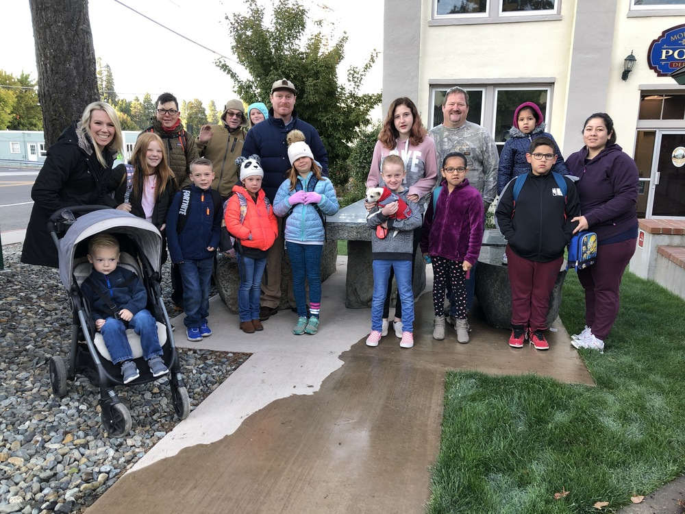 District Students and Families Walk to School