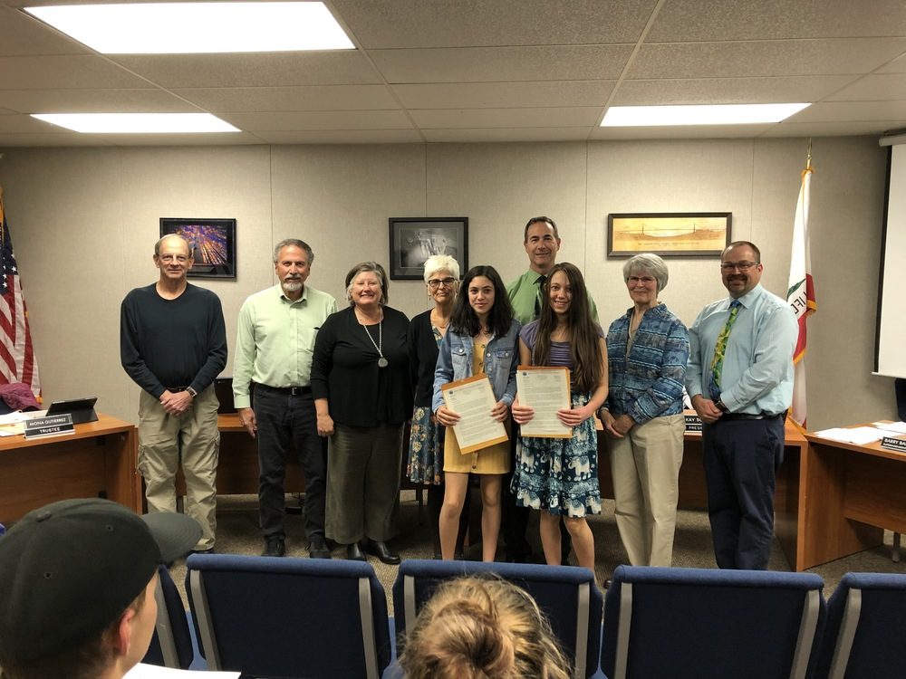 Maya and Ella Rawitch Honored by School Board